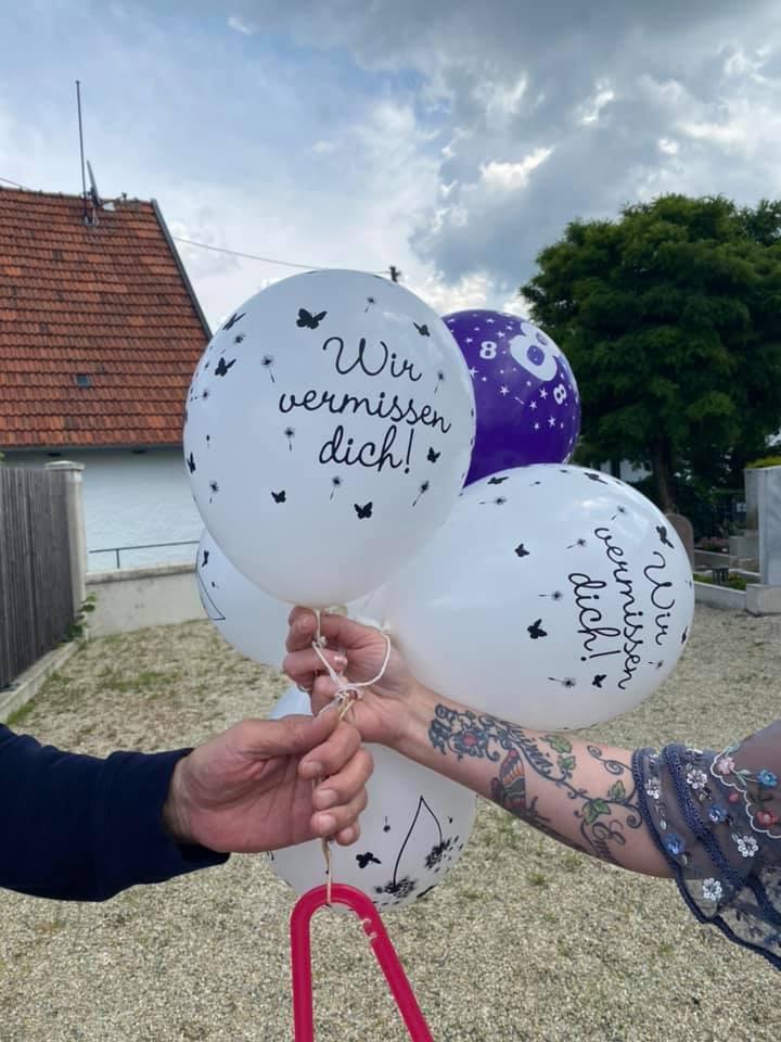Luftballons für Emma