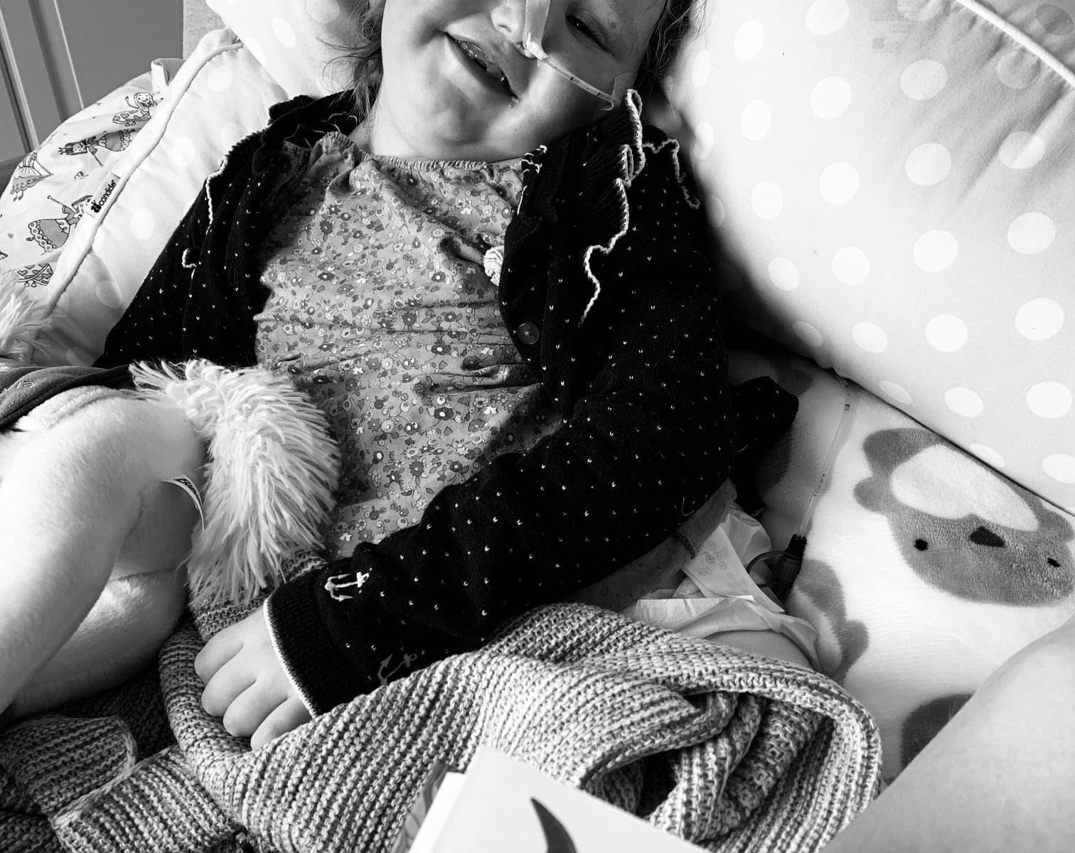 Emma im Pflegebett