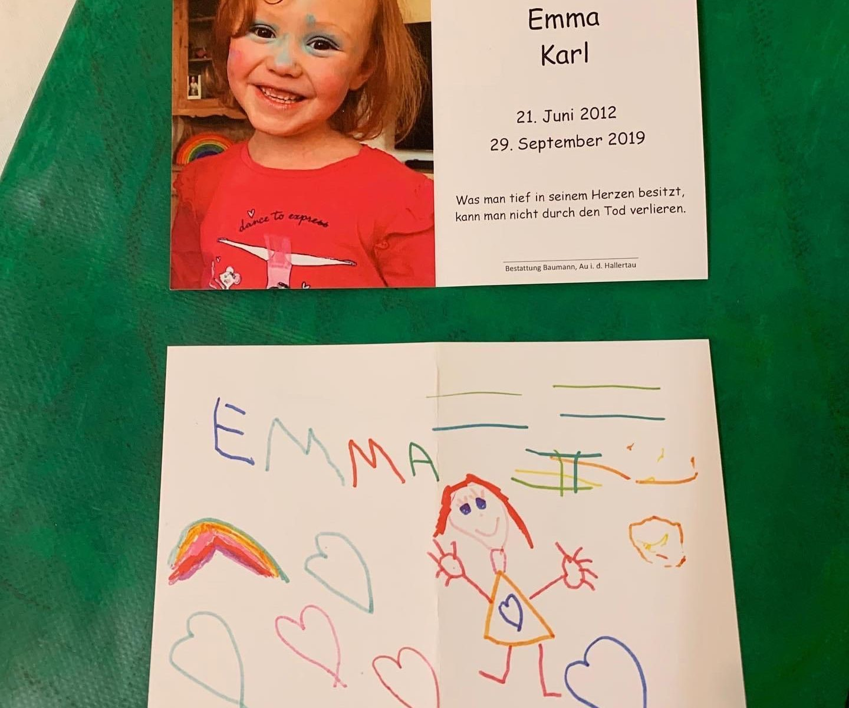 Sterbebild Emma
